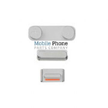 iPhone 5SE External Side Button Set in White